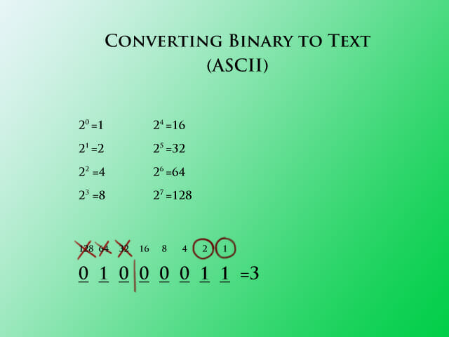 Binary to text step 2