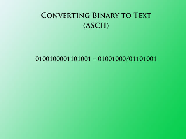 Binary to text step 4