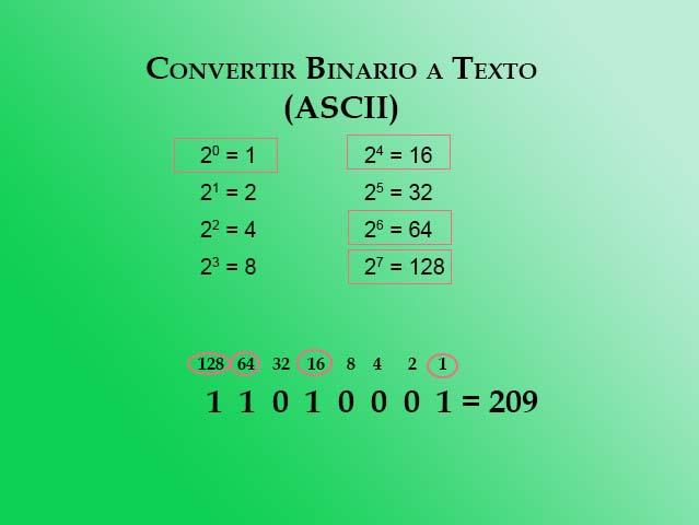 Binario a texto paso 7