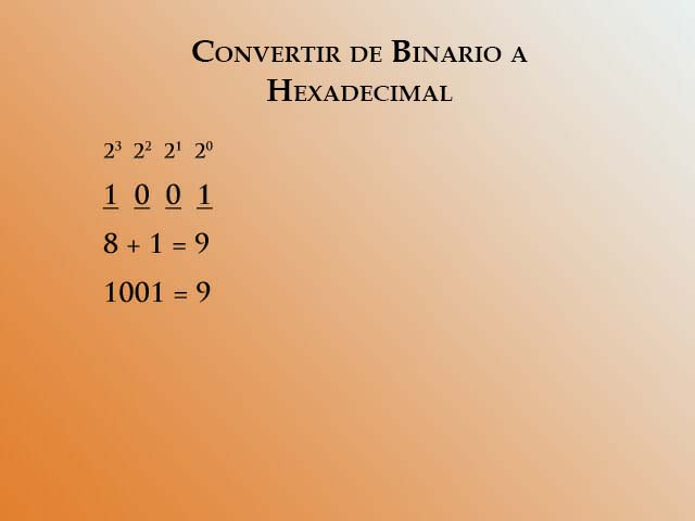 Binario a hex 1