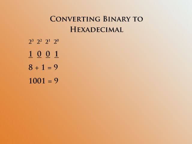 Binary to hex 1