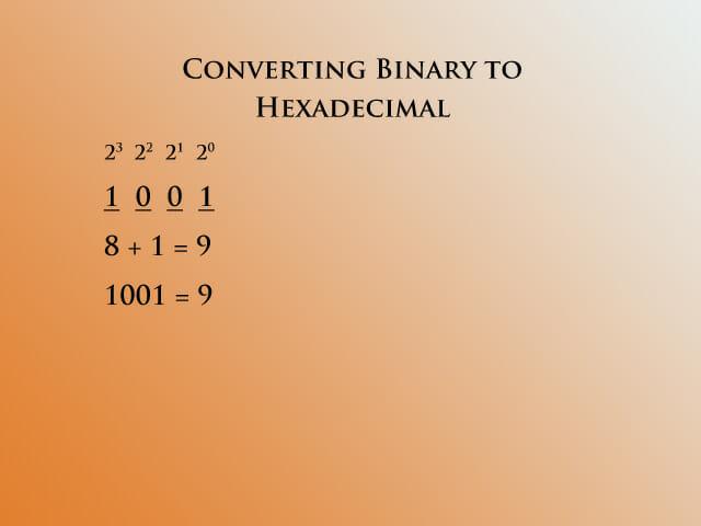 Binary to hex 1