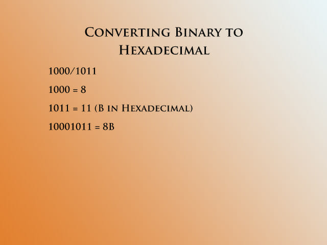 Converting binary to hex 2