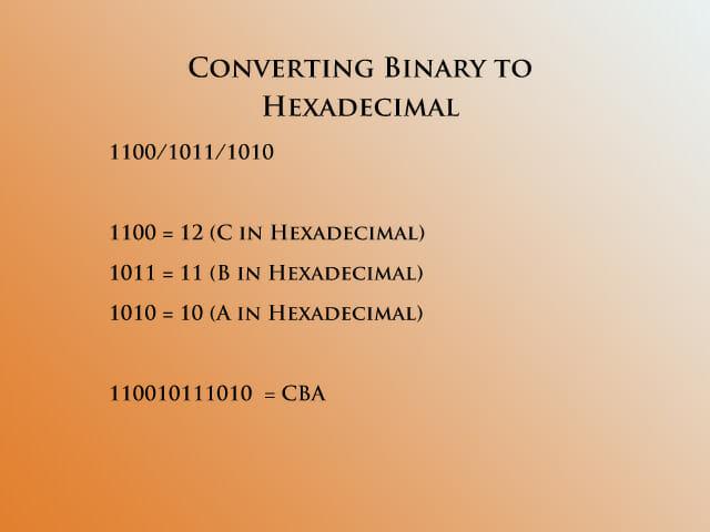 Binary to hex 4