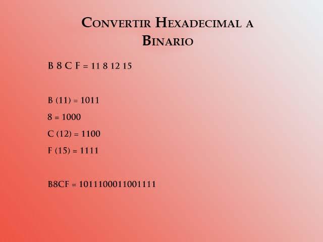 Hex a binario 2