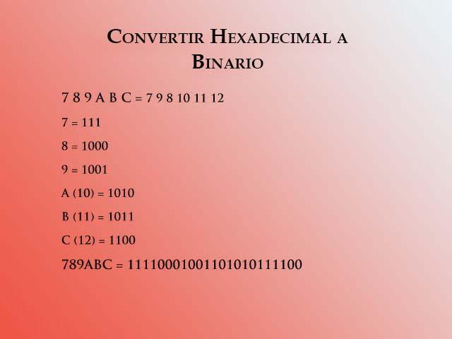 Hex a binario 3