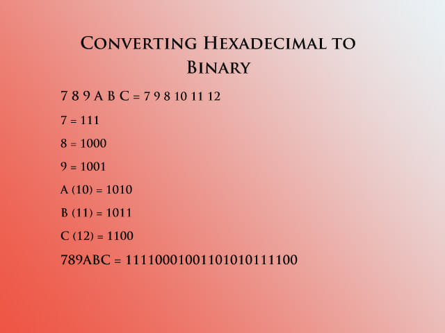hex to binary 3