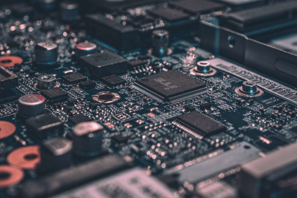 Binary code is stored in transistors within computers