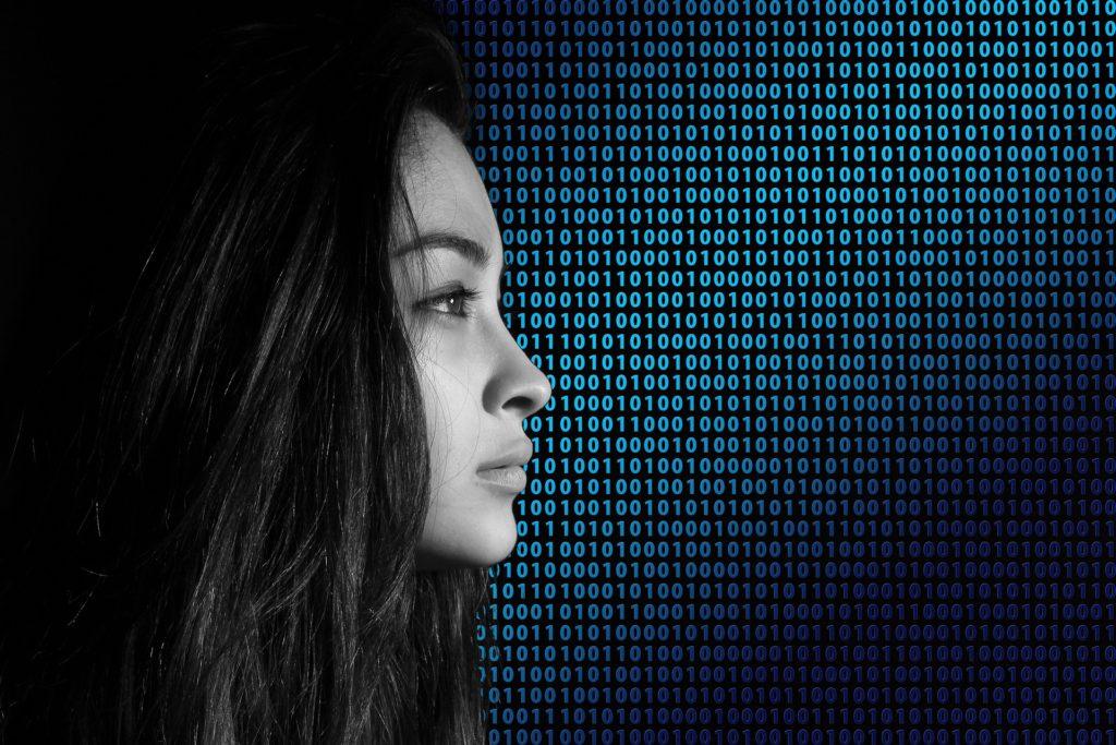 human girl binary code